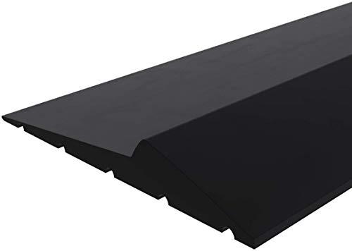 Garage Door Bottom Threshold Seal Strip Universal Weatherproof Floor Buffer Rubber DIY Weather Stripping Replacement, Not Include Sealant/Adhesive (16Ft, Black)