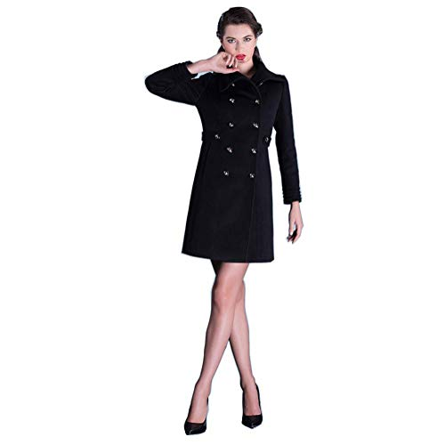 JTIH ® Disfraz De Vuelo Disfraz De Mujer Disfraz De Azafata Anfitrión Traje De Avión Disfraz De Mujer Negro con Tachuelas Doradas (1,XL)