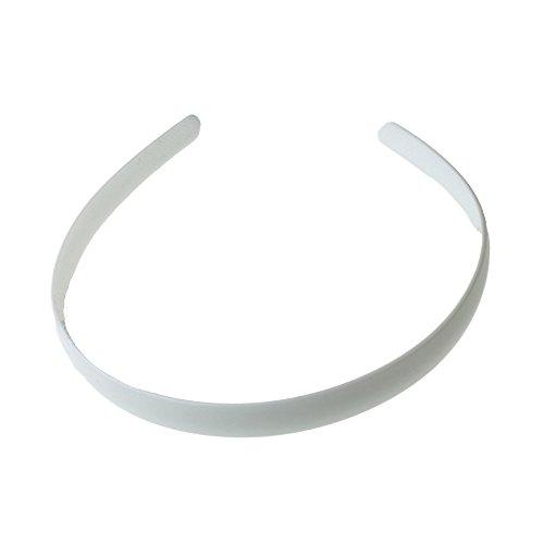 White Plain 1.5cm (0.6) Plastic Alice Hair Band Headband by Pritties Accessories