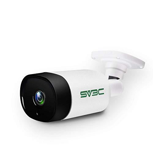 SV3C 防犯カメラ 屋外 監視カメラ 300万画素 PoE給電 有線 NVR対応 IPカメラ 3MP マイク付 暗視撮影 動体検...