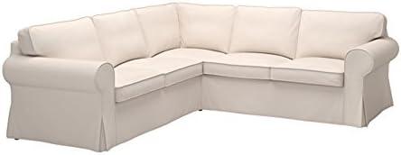 Best IKEA Ektorp Sectional Slipcover Cover, 4 Seat Corner, Lofallet Beige, 403.216.88