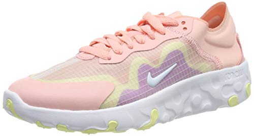 Nike Wmns Renew Lucent, Zapatillas de Running para Mujer, Rosa (Bleached Coral/White/Hyper Violet/Luminous Green/Pink Quartz 600), 37.5 EU