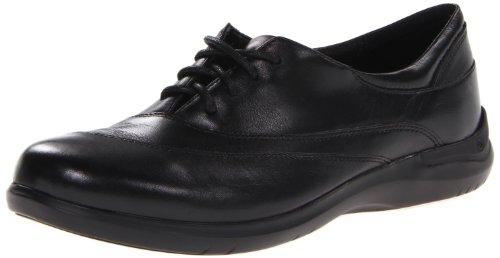 Aravon Women's Francesca Flat, Black, 5.5 Wide
