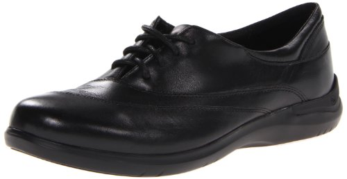 Aravon Women's Francesca Flat,Black,9 D US