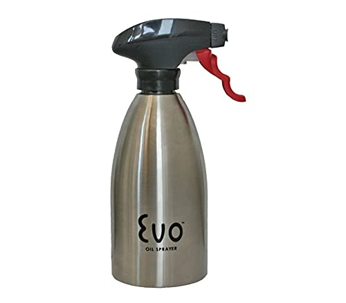 EVO Oil Sprayer, Non-Aerosol for Olive Oil and Cooking Oils 16oz Stainless Steel