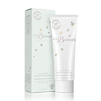 Little Butterfly London Cocoon Of Bliss Stretch Mark Butter for Mums Improves Elasticity and Suppleness with Natural Ingredients from Little Butterfly London