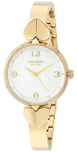Kate Spade New York Women's Hollis Quartz Stainless Steel Mother of Pearl Watch, Color: Gold Bangle (Model: KSW1643)