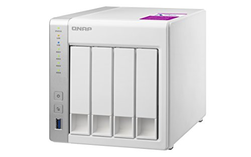 Qnap Ts-431P2-1G Desktop Nas Behuizing Met 1 Gb Ddr3 Ram, Powerful 4-Bay Storage Server, Wit