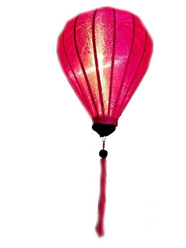 Vietnamesisch Oriental Silk Bambus Handcrafted Laterne-Lampe Chinese Rosa 9
