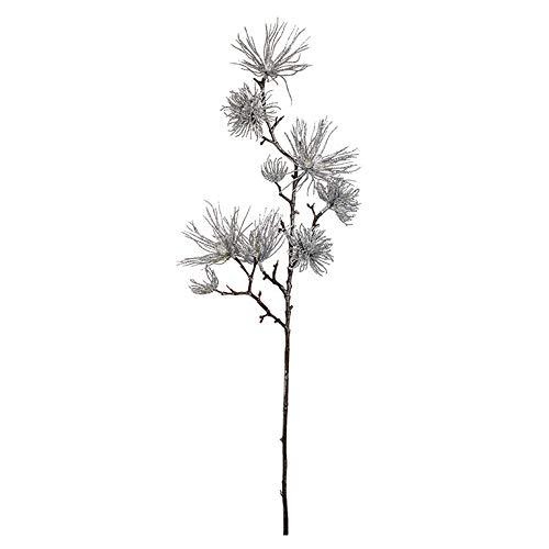 EUROCINSA Ref.71161C05 NAVIDAD, Chinese grenen, glanzend, zilverkleurig, doos met 12 stuks, 78 cm