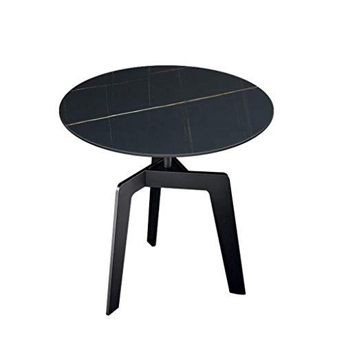 N/Z Tägliche Ausrüstung Beistelltisch Runder Marmor-Beistelltisch Kleiner Couchtisch Sofa Tisch Nordischer moderner Nachttisch für Wohnzimmer Büro Schlafzimmer (Farbe: Schwarz)