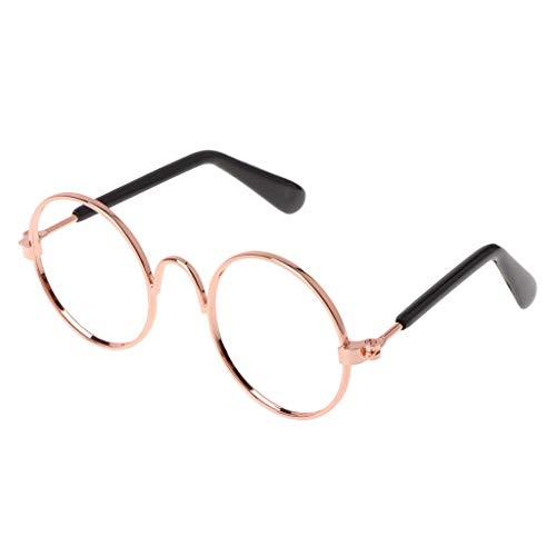 Vektenxi Premium-Qualität Haustier Brille Kostüm Sonnenbrillen, Runde lustige Mode Requisiten Hund Katze Supply Produkte
