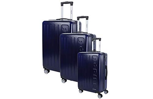 RODIER Set de 3 Valises Koffer-Set, 50 cm, Blau (Bleu)