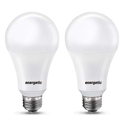 150 Watt LED Bulb, 2600LM Super Bright Light Bulbs, Daylight 5000K, Dimmable A21 LED Bulb, E26 Standard Base, UL Listed, Damp Rated, 2 Pack