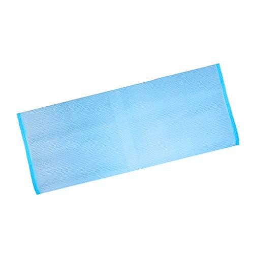 Baoblaze Gratte-dos Douche Fleurs de Douche pour Adulte Corps Serviette de Nettoyage Exfoliant Corps de Bain Massage Outils,Hommes et Femmes - Bleu