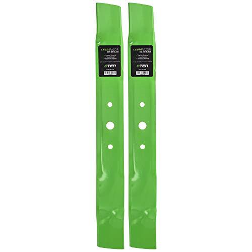 8TEN LawnRAZOR Mulching Blade for John Deere 42 inch Deck L100 L105 L110 M128485 GX20249 GY20567 GX20433 2 Pack