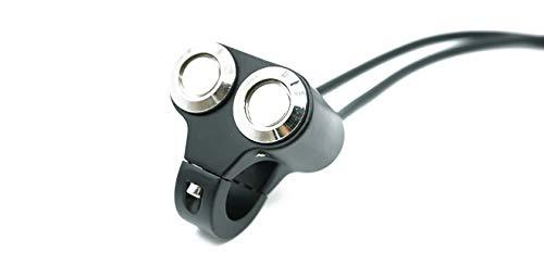 CAIZHIXIANG El botón del Interruptor de la luz indicadora del Interruptor de Control del Manillar de la Motocicleta Establece 3 Cables for la luz del Foco de los Faros 24 mm