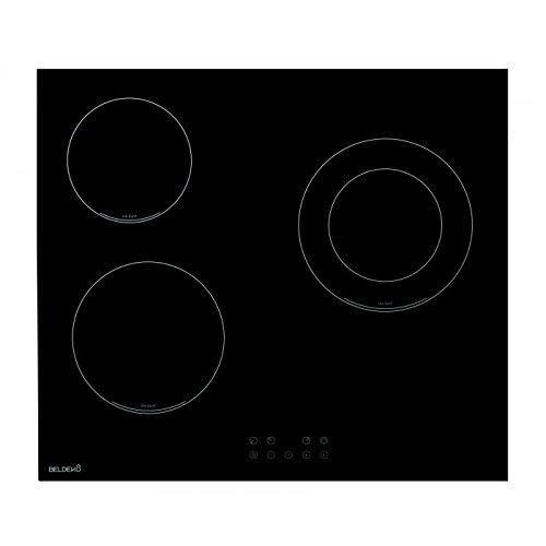 Table de cuisson Vitrocéramique 3 foyers - BELDEKO TV3V-102