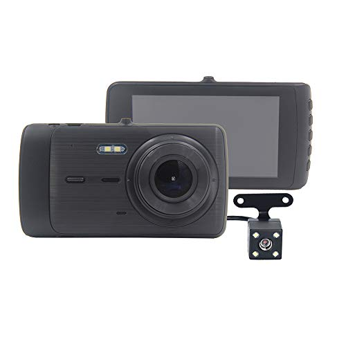 """Vehicle Blackbox DVR Full HD 1080P Dash Camera for Cars 4"""" LCD Screen with 170° Wide-Angle,Car Dash Camera Front and Rear with Night Vision,Gravity Sensor,Motion Detection,Support 32GB MAX"""