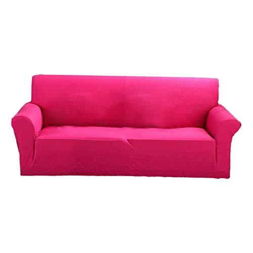 Amuzocity Protector de La Cubierta del Sofá de 2 Plazas con Dosel de Color Sólido Y Todo en - Rosa Caliente, Individual