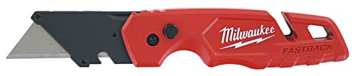 Milwaukee 48-22-1501 Fastback Folding Utility Knife with Wire Stripper, Gut Hook, and Quick Blade Change