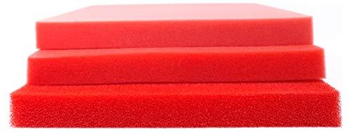 Pondlife Teich - Filterschaum/Filtermatte rot Red-Premium Größe 100 x 100 x 5 cm PPI 10 grob