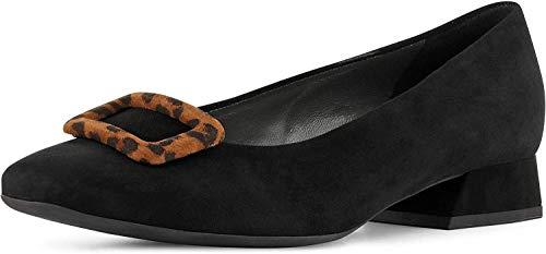 Peter Kaiser Zenda Womens Dress Shoes 40 EU Black Suede/Leopard