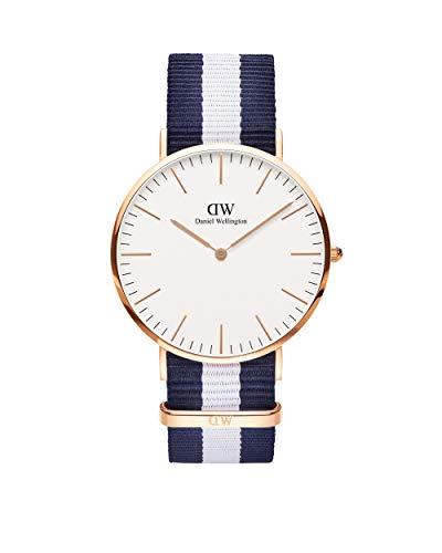 Daniel Wellington Classic Glasgow, Blau-weiß/Roségold Uhr, 40mm, NATO, für Herren
