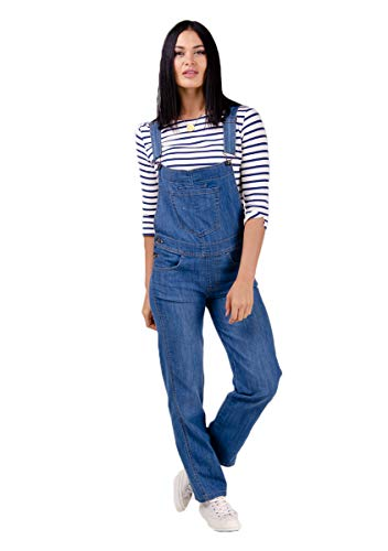 Wash Clothing Company Damen Jeanslatzhose Lightwash Blau Latzjeans Overalls Denim Dungarees Dottie (EU 40)