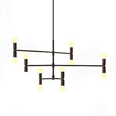 YOKA Modern Pendant lighting Ceiling Chandelier Hanging Lamp with 12 Lights Fixture Flush Mount
