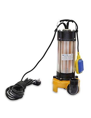 Bomba Sumergible Para Agua Sucias 2200W, 230v, 30000L/h, Acero Inoxidable, Profundidad Máxima 14m, 8m De Cable Eléctrico, Con Interruptor Flotante
