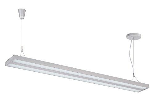 "Lite Source LS-19795SILV Lael LED Pendant, Silver, 70"" x 48"" x 5"""