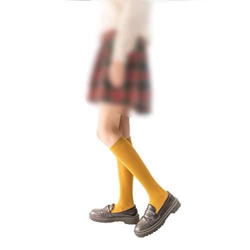Fenical Kniestrümpfe Lolita High Socks Velvet Bunte Kniestrümpfe Silikon rutschfeste Kniestrümpfe für Mädchen