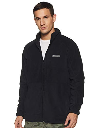 Columbia Men's Basin Trail Fleece Full Zip, Black ,Large
