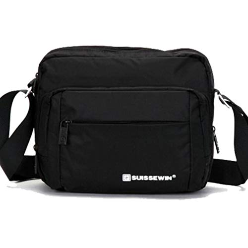 cjc Herren Outdoor Sports Canvas Multifunktions UmhäNgetasche Messenger Bag Reisetasche Black
