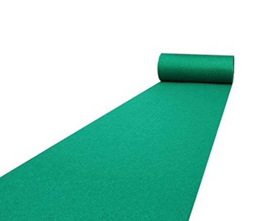 Groene Tapijt Runners, Bruiloft Runners Gedecoreerd Antislip Tapijt Trappen Tapijt Slaapkamer Matten 1.5m Breed