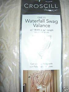 Croscill Cameo Ivory Waterfall Swag Valance