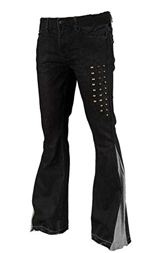 Babao dames breed tentoongestelde jeans stretch denim broek