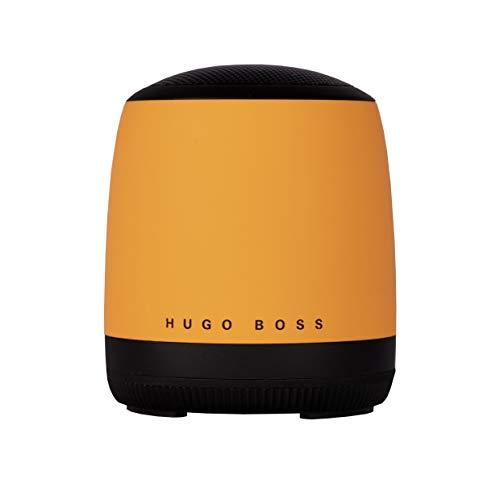 Hugo Boss Gear Matrix Altavoz Amarillo/Mini Altavoz analámbrico portátil/Altavoz Conectado con Cable USB-c Incluido para la Carga y la opción de Manos Libres/Radio FM incorporada