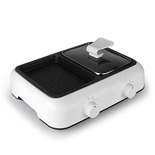 CHENMAO Multi-Funktions-Elektro-Grill, Bratpfanne, Brat- und Koch Integrierter Dual-Purpose Pot Non-Stick Elektrische Backform leicht zu reinigen
