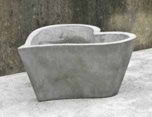 Teramico Dekotopf Pflanzgefäß Blumentopf aus Beton Leichtbeton Heart Pot 30