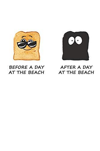 Before A Day At The Beach - After A Day At The Beach: Ein Tag Am Strand. Notizbuch / Tagebuch / Heft mit Punkteraster Seiten. Notizheft mit Dot Grid, Journal, Planer für Termine oder To-Do-Liste.