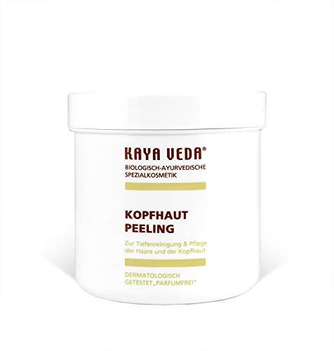 KAYA VEDA Kopfhautpeeling mit Ayurveda Kräutern/Vegane und natürliche Haarpflege für Mann & Frau/Haarpeeling mit Vitaminen gegen Haarausfall/Dichtes und starkes Haarvolumen (1 x 250 g)