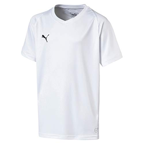 PUMA Kinder Liga Core Jersey, White Black, 164