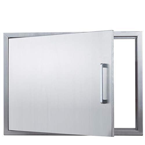 "Outdoor Kitchen Doors Stainless Steel,30"" Double Access Door,Flush Mount for Outdoor Kitchen and BBQ Island"