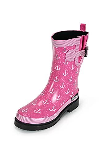 MADSea Damen Gummistiefel Ocean Anchor pink Anker Design, Größe:39 EU