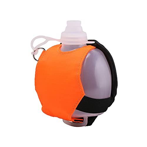 CJBIN Botella de agua portátil para fitness, botella de agua para fitness, a prueba de fugas, botella para actividades al aire libre, camping, senderismo, ciclismo, correr, viajes (naranja)