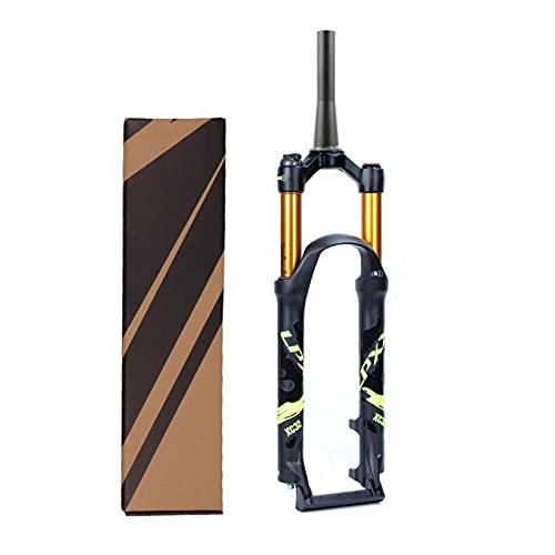 Horquillas de Suspensión para Bicicleta de Montaña,Viaje 120mm Aleación de Magnesio MTB Horquilla de Choque Eje 9mm Freno Disco (Color : B, Size : 26inch)