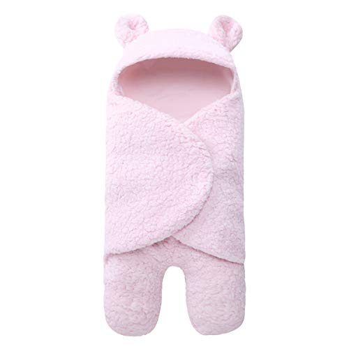 Haokaini Pasgeboren warme winter slaapzak, baby slaapzak Swaddle Wraps, wandelwagen Bed deken voor baby roze