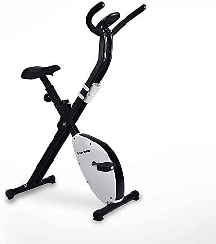 YQG Bicicleta estática para Interiores, con Pantalla LCD, Equipo de Ejercicios para Perder Peso, Equipo de Gimnasio Paso a Paso para Gimnasio en casa, Mini Bicicleta de Ciclismo, Amarillo